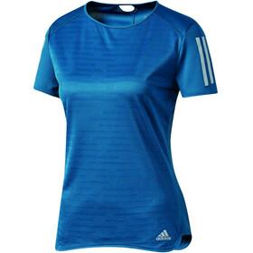 adidas Response Hardloopshirt korte mouwen Dames blauw